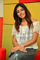 Eesha in a cute deep neck top and Skirt at at Big FM 030.JPG