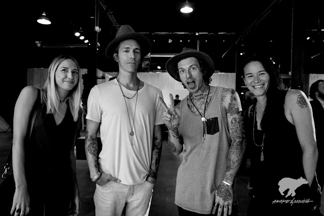 Brandon Boyd of Incubus, Jason Eatherly of SprATX, and Andy from HOPE Project. Austin, TX.