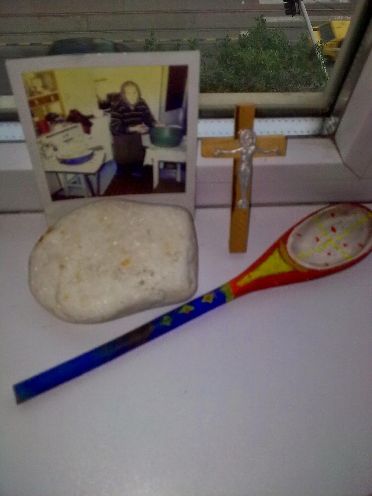 lingura de lemn pictată