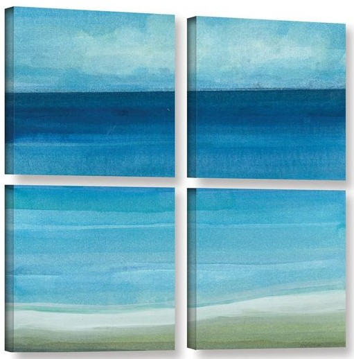 4 Piece Ocean Beach Wall Art Set