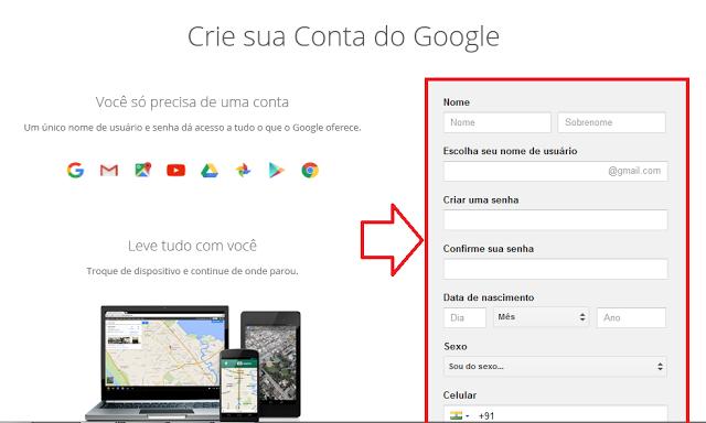 Formulário do Google para o Gmail