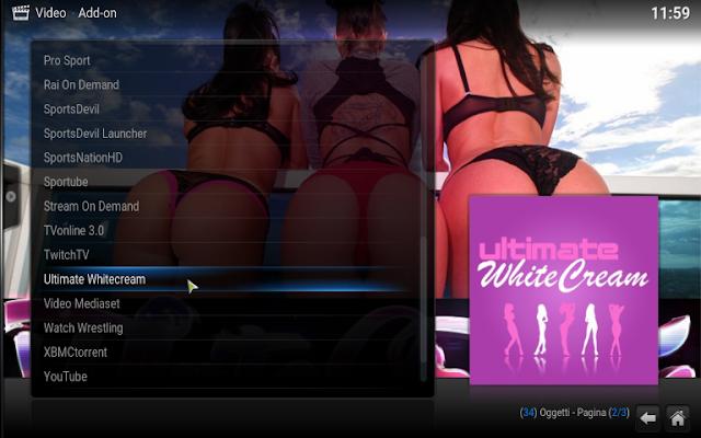 Final WhiteCream: O add-on sexy para o Kodi ( Addon Para Maiores ) Atualizado