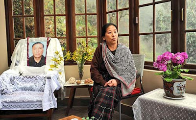 Bharati Tamang widow of slain All India Gorkha League (AIGL) leader Madan Tamang