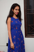 Pallavi Dora Actress in Sleeveless Blue Short dress at Prema Entha Madhuram Priyuraalu Antha Katinam teaser launch 054.jpg
