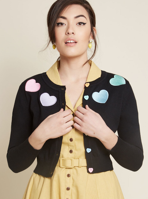 heart patch cardigan with buttons Refashion Hot Trends or Buy! DIY inspiration for the fashionista BUY or DIY - Inspired DIY Fashion you can make or refashion from the clothes you already have! #fashionista #diy #diyclothes #diyaccessories #refashion