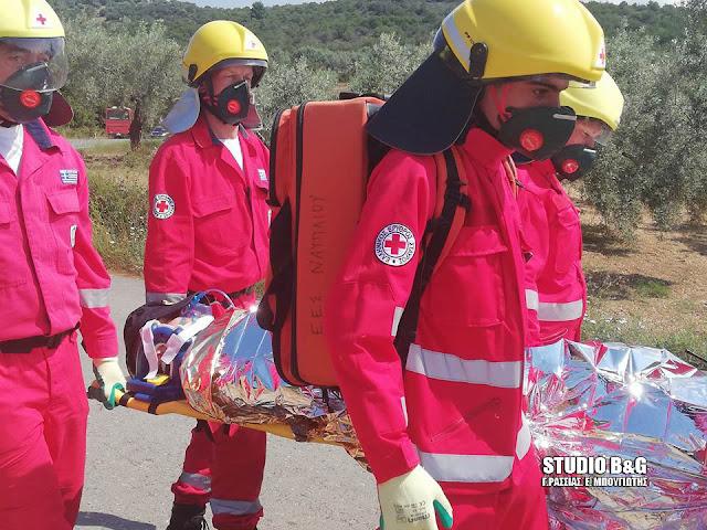 Άσκηση δασικής πυρκαγιάς μεγάλης κλίμακας στην Αργολίδα