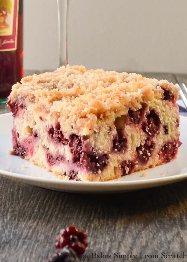 Blackberry Buckle is a favorite cake that is the perfect recipe to make for dessert from Serena Bakes Simply From Scratch.