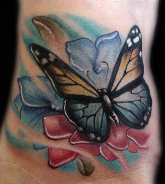 Butterfly Tattoos Flowers Design Ideas 2017
