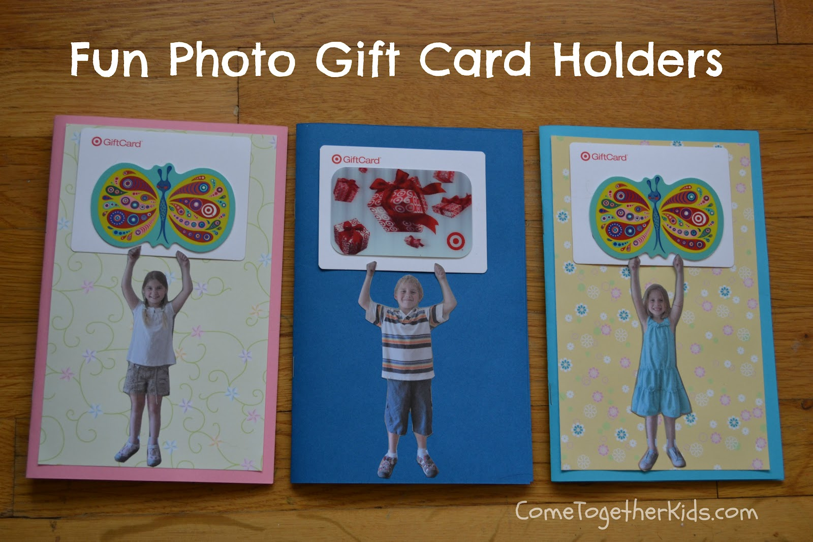 Come Together Kids Photo Gift Card Holder And Thank You Booklet