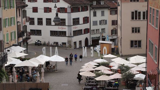 """Open Air"" The main square in Rapperswil, Switzerland"