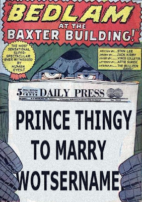 Fantastic Four Annual #3, dr doom and the royal wedding, splash page