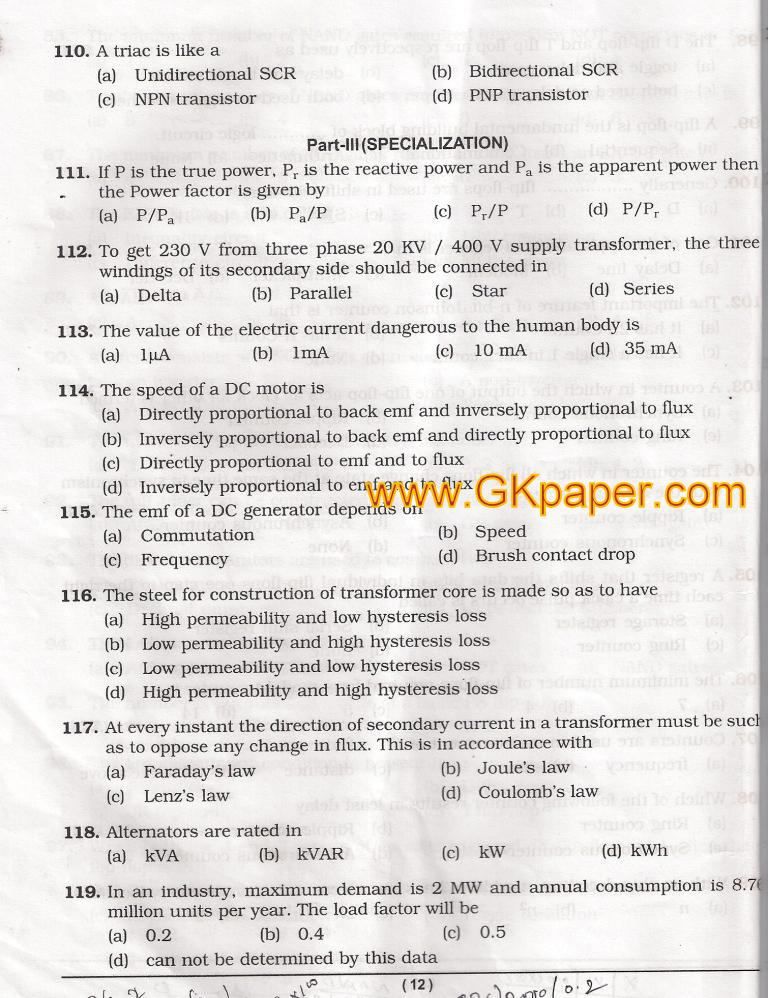 BSNL TTA EXAM SOLVED QUESTION PAPERS PDF