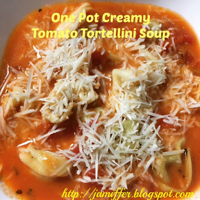 One Pot Creamy Tomato Tortellini Soup