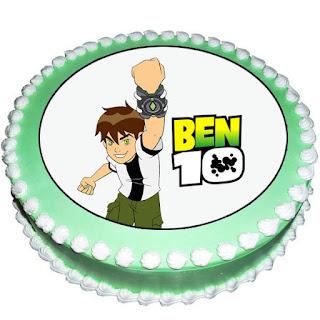 Powerful Ben 10 Photo Cake