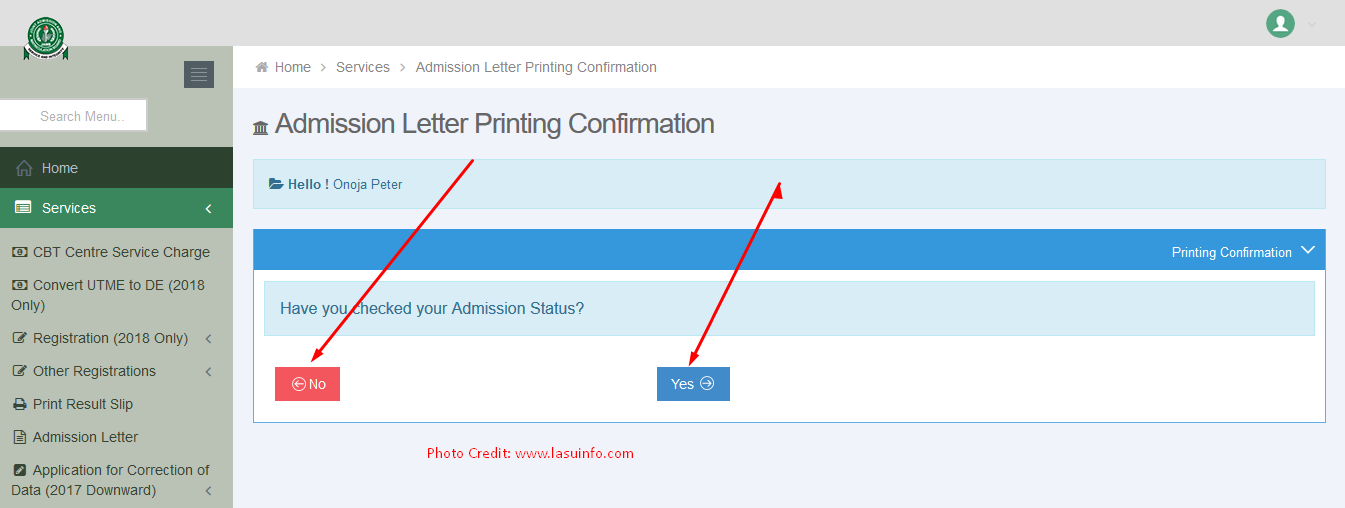 JAMB Admission Letter Printing Guidelines| 1995 - Till Date (PHOTOS)