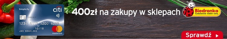 400 zł do Biedronki w promocji Citibank