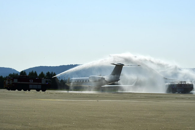C-20 leaves Ramstein air base