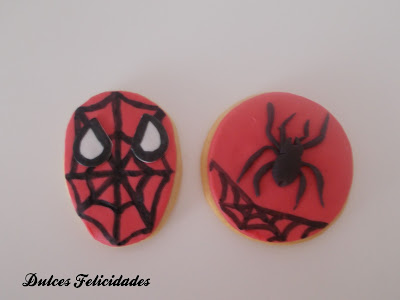 Galletas Spiderman Fondant