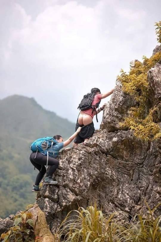 Фото девушек-альпинисток