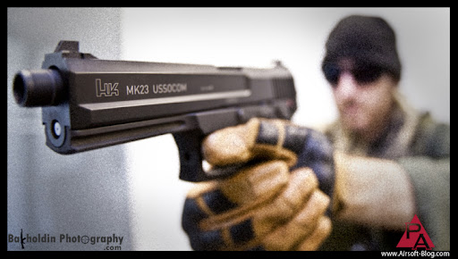 Pyramyd Airsoft Blog: The KWA H&K Mk23 USSOCOM Gas Blow Back Pistol
