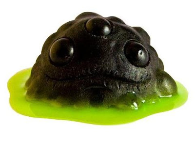Gread Resin Figures by Lysol - Black Gread with Green Slime