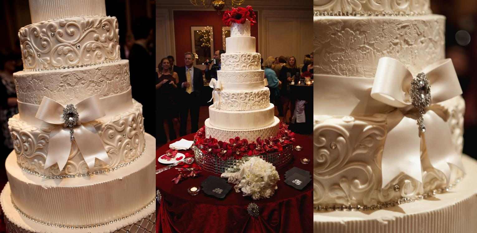 wedding cakes with red roses and bling fly me to the moon real wedding powers davison 26098
