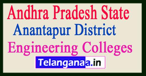 Engineering Colleges in Anantapur Andhra Pradesh State