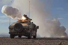 BGM-71 TOW Missile Launching From Humvee Mount