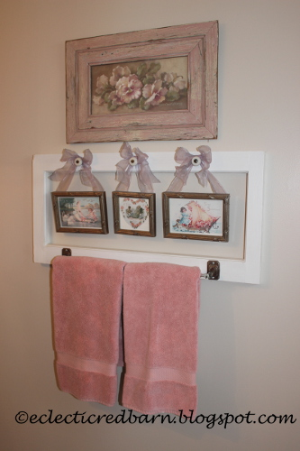 Eclectic Red Barn: Valentine's Day Towel Rack