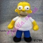 patron gratis muñeco Homer Simpson amigurumi, free amigurumi pattern Homer Simpson doll