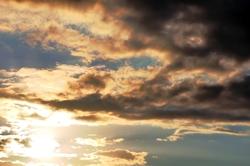 Grelle Sonne im Westen...