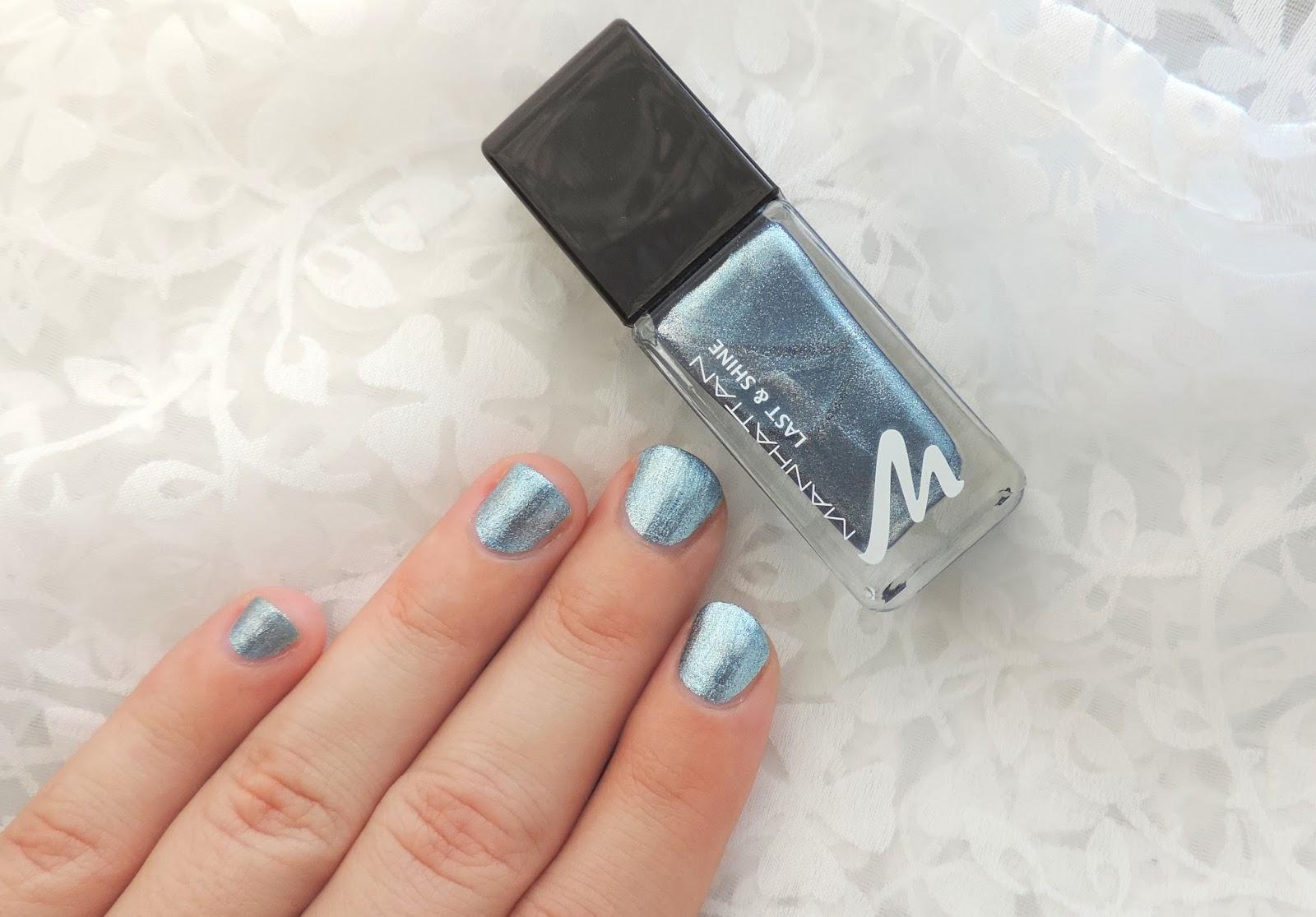 Liana Laurie ♥♪♫: Manhattan Last & Shine Nagellack - 900 Blue Wave