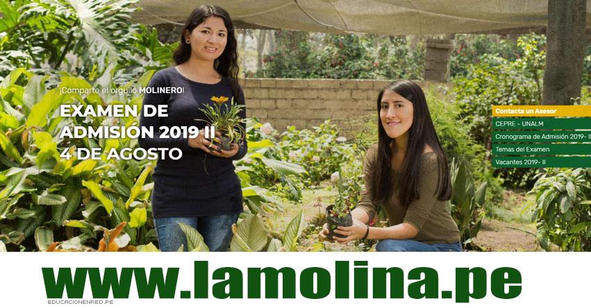 Resultados UNALM 2019-2 (Domingo 4 Agosto) Lista de Ingresantes - Examen Admisión - Universidad Nacional Agraria La Molina - www.lamolina.edu.pe