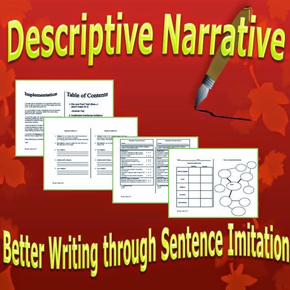 Descriptive Narrative: Better Writing through Sentence Imitation