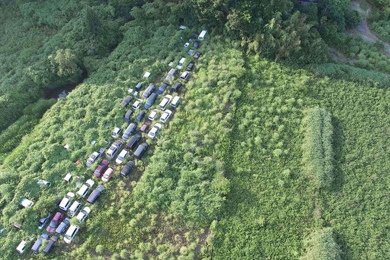 Impresionantes imagenes de la desamparada zona de exclusión de Fukushima convirtiendose en desierto