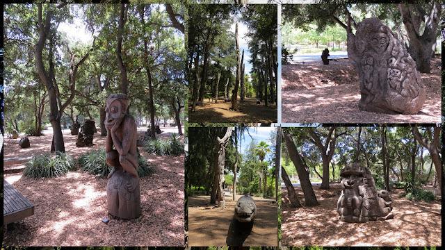 Papua New Guinea Sculpture Garden at Stanford University
