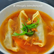 Spicy Vegetarian Dumpling Soup | Denise's Wonderland