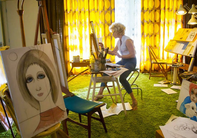 Amy Adams' Margaret Keane paints her signature paintings in Big Eyes.