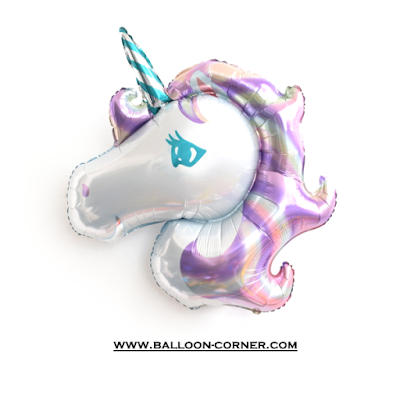 Balon Foil Violet Unicorn MEDIUM