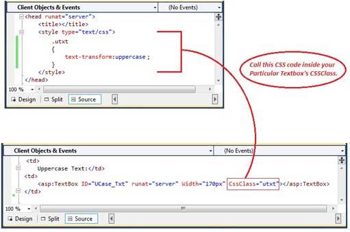 Style code inside HTML code