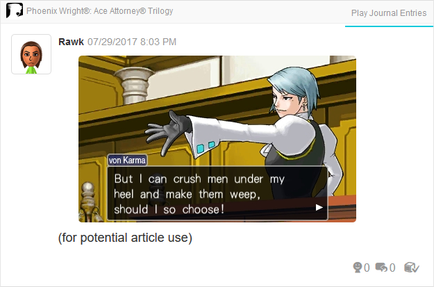 Phoenix Wright Ace Attorney Trials and Tribulations Franziska crush men under my heel and make them weep