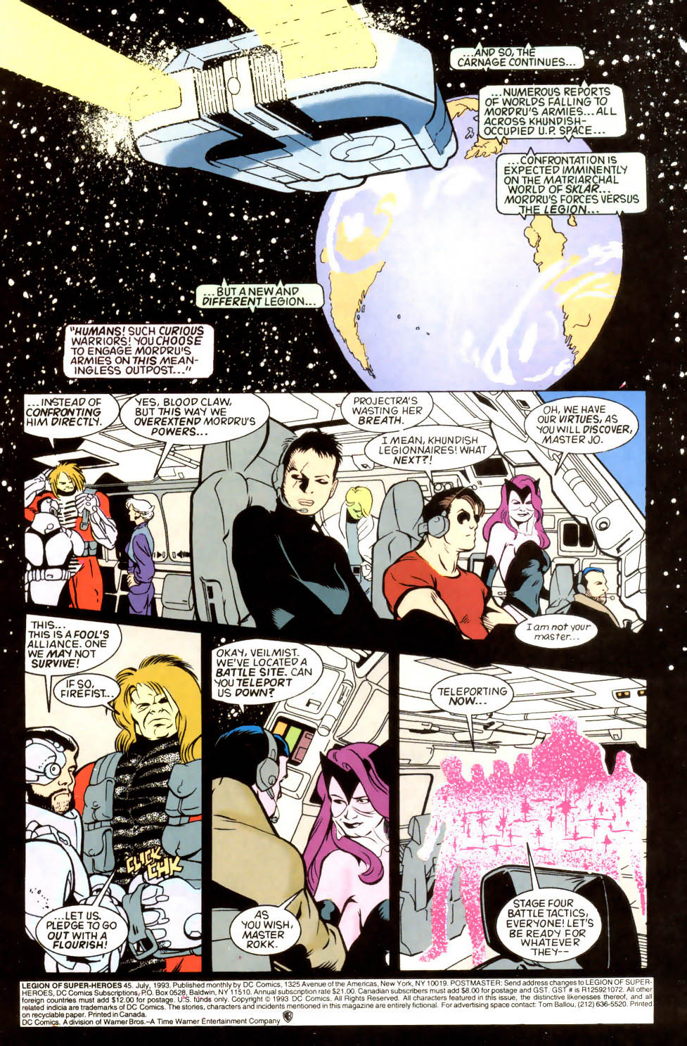 Legion of Super-Heroes (1989) 45 Page 1