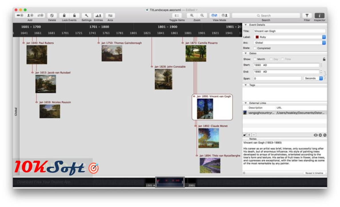 Download Aeon Timeline DMG Latest Version for Mac OS
