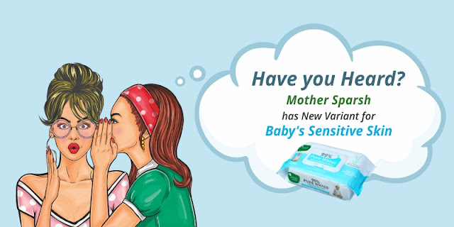 The new Mother Sparsh Baby Wipes with 99% Pure Water..