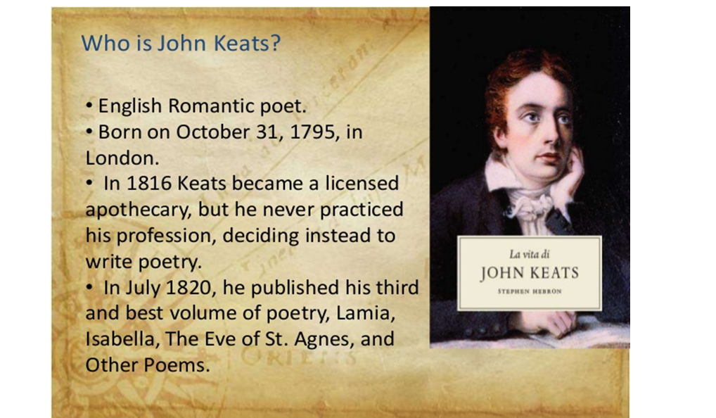 an essay on the romanticism of john keats Examining the romantic poet john keats english literature essay published: 23, march 2015 john keats, a literary legend, lived during the romantic period.