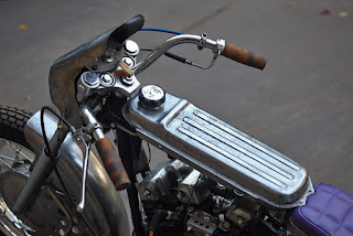 sportster xlh 1972 cafe dragster by elkabikes on gas tank