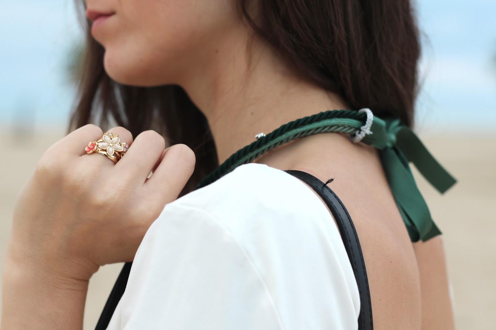 collana verde green necklace Charme Bijoux
