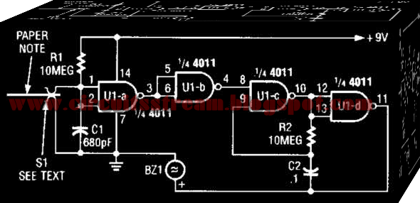Digital Audio Memo Alert Circuit Diagram