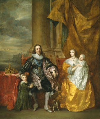 Anthony van Dyck - Charles I et Henriette Marie et leurs deux ainés,1632