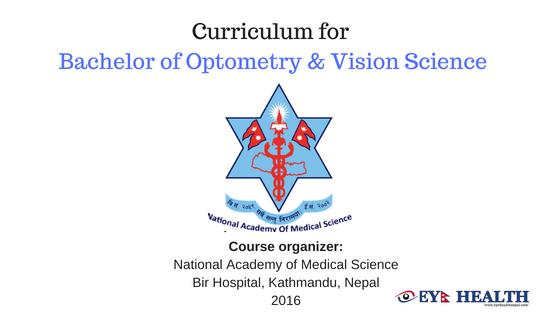 B.optom curriculum NAMS